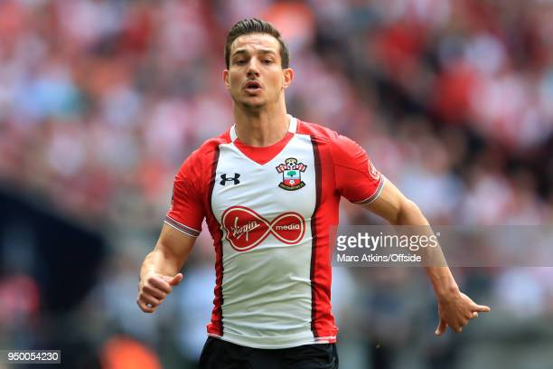 Cedric Soares of Southampton during the Emirates FA Cup Semi Final between Chelsea and Southampton at Wembley Stadium on April 22 2018 in London...