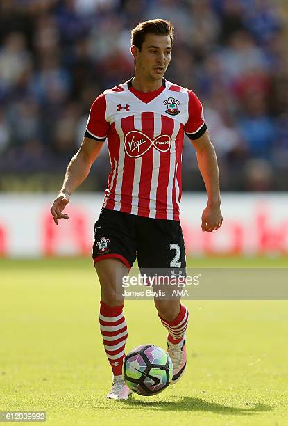 Cedric Soares of Southampton during the Premier League match between Leicester City and Southampton at The King Power Stadium on October 2 2016 in...