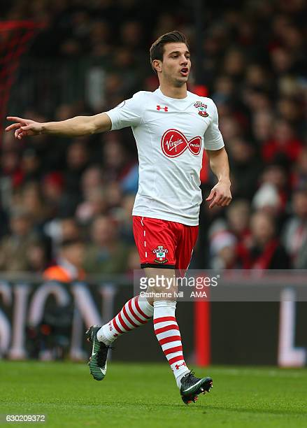 Cedric Soares of Southampton during the Premier League match between AFC Bournemouth and Southampton at Vitality Stadium on December 18 2016 in...