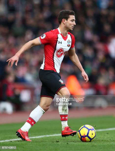 Cedric Soares of Southampton during the Premier League match between Southampton and Everton at St Mary's Stadium on November 26 2017 in Southampton...