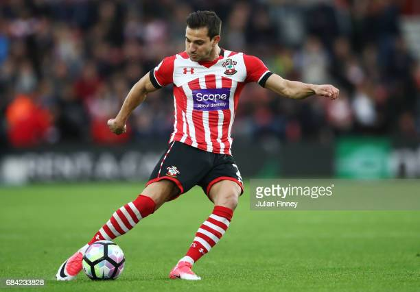 Cedric Soares of Southampton in action during the Premier League match between Southampton and Manchester United at St Mary's Stadium on May 17 2017...