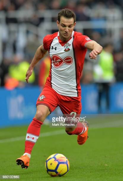 Cedric Soares of Southampton in action during the Premier League match between Newcastle United and Southampton at St James Park on March 10 2018 in...