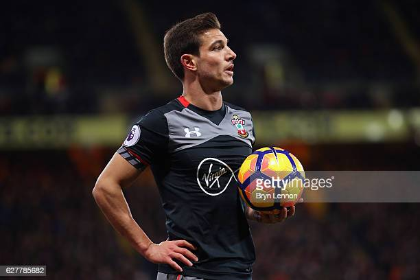 Cedric Soares of Southampton looks on during the Premier League match between Crystal Palace and Southampton at Selhurst Park on December 3 2016 in...