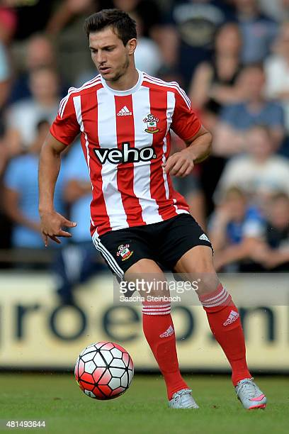 Cedric Soares of Southampton runs with the ball during the friendly match between KVV Quick 1920 and FC Southampton at Sportpark De Vondersweijde on...