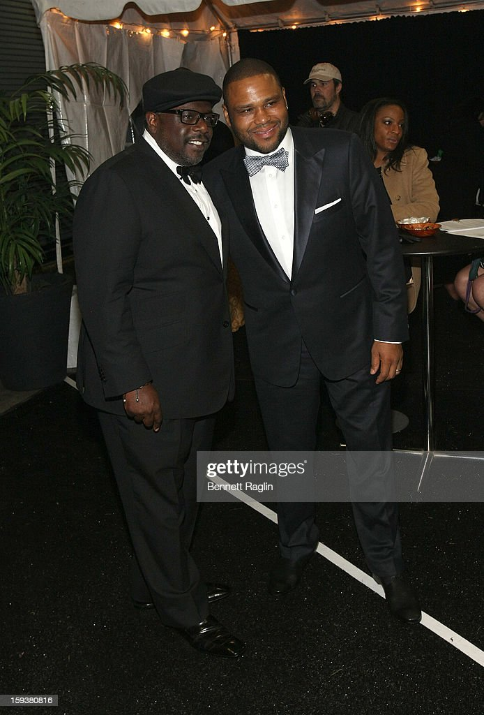 Cedric the Entertainer and Anthony Anderson attend BET Honors 2013: Backstage at Warner Theatre on January 12, 2013 in Washington, DC.