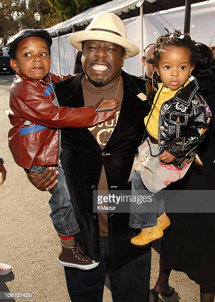 Cedric the Entertainer and children during Nickelodeon's 19th Annual Kids' Choice Awards Orange Carpet at Pauley Pavilion in Westwood California...