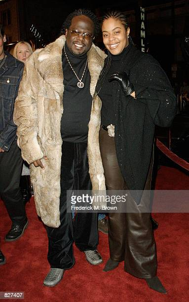 Cedric the Entertainer and his wife attend the film premiere of Ali December 12 2001 in Los Angeles CA