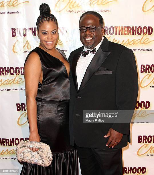 Cedric the Entertainer and his wife Lorna arrive at the 46th Annual BremondBakewell Pioneer of African American Achievement Awards Gala at The...