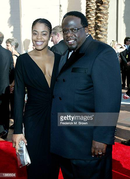 Cedric the Entertainer and his wife Lorna attend the 2002 Creative Arts Emmy Awards at the Shrine Auditorium on September 14 2002 in Los Angeles...