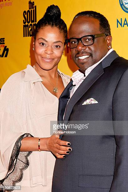 Cedric the Entertainer and Lorna Wells attend TV Land and First AME Church screening of 'The Soul Man' at First AME Church on August 26 2012 in Los...