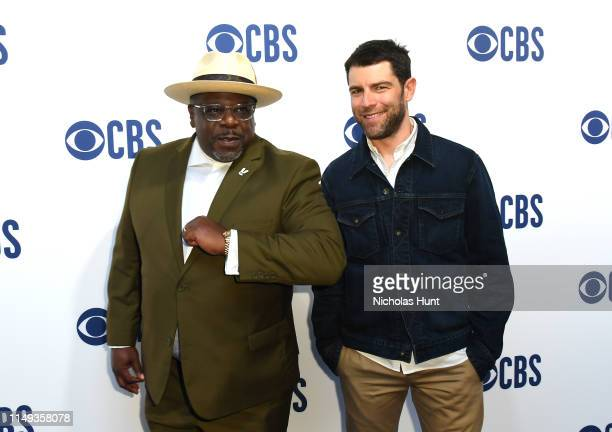 Cedric the Entertainer and Max Greenfield attend the 2019 CBS Upfront at The Plaza on May 15 2019 in New York City
