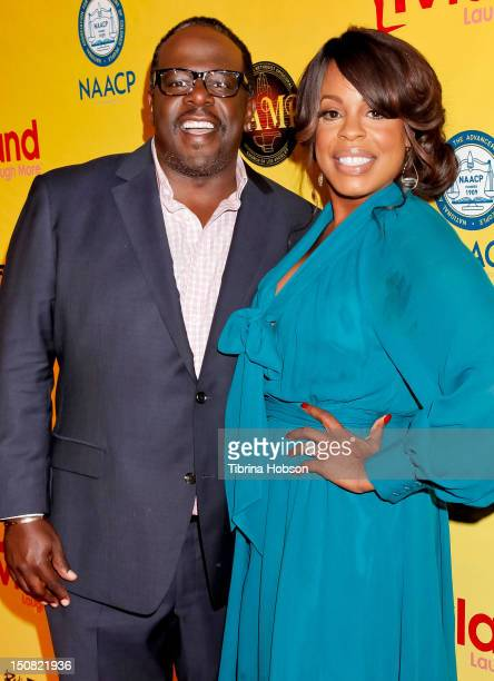 Cedric the Entertainer and Niecy Nash attend TV Land and First AME Church screening of 'The Soul Man' at First AME Church on August 26 2012 in Los...