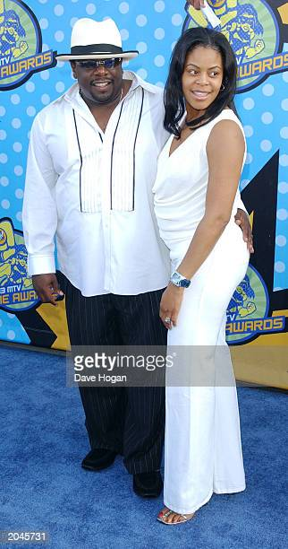Cedric the Entertainer and spouse Lorna Wells attend The 2003 MTV Movie Awards held at the Shrine Auditorium on May 31 2003 in Los Angeles California