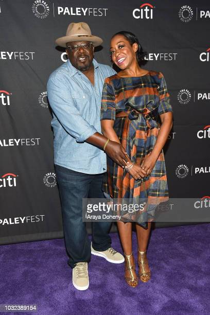 """Cedric the Entertainer and Tichina Arnold from """"The Neighborhood"""" attend The Paley Center for Media's 2018 PaleyFest Fall TV Previews - CBS at The..."""