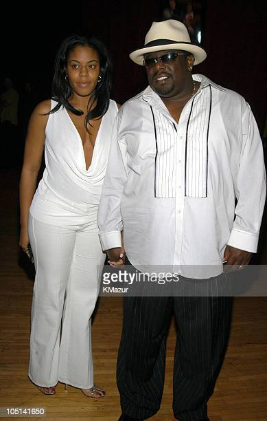 Cedric the Entertainer and wife during 2003 MTV Movie Awards Backstage and Audience at The Shrine Auditorium in Los Angeles California United States