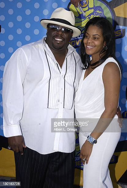 Cedric The Entertainer and wife during 2003 MTV Movie Awards Arrivals at The Shrine Auditorium in Los Angeles California United States