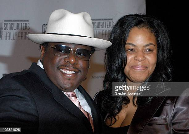 Cedric The Entertainer and wife during 35th Annnual Songwriters Hall of Fame Awards at The Marriott Marquis in New York City NY United States