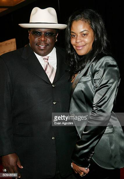 Cedric The Entertainer and wife Lorna attend the 35th Annual Songwriters Hall of Fame induction ceremony at the Marriott Marquis June 10 2004 in New...