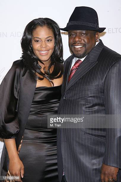 Cedric the Entertainer and wife Lorna during 15th Annual Elton John AIDS Foundation Oscar Party at Pacific Design Center in Los Angeles California...