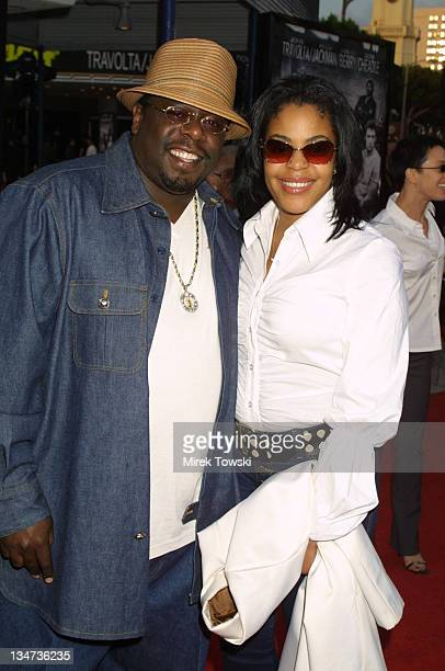 Cedric The Entertainer and wife Lorna during 'Swordfish' Los Angeles Premiere arrivals at Mann Village Theatre in New York City New York United States