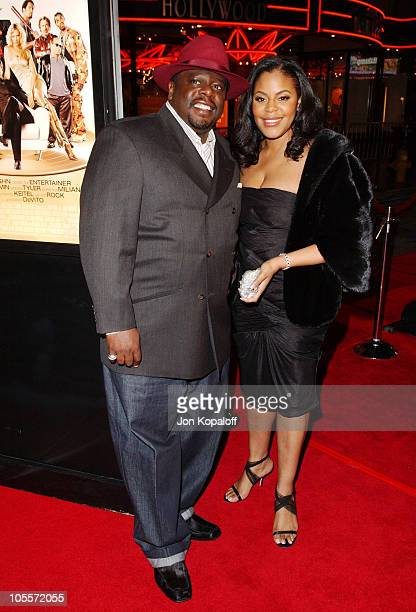 Cedric the Entertainer and wife Lorna Well during Be Cool Los Angeles Premiere Arrivals at Grauman's Chinese Theater in Hollywood California United...