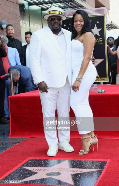 Cedric the Entertainer and wife Lorna Wells attend Cedric the Entertainer being honored with a Star on the Hollywood Walk of Fame on July 19 2018 in...