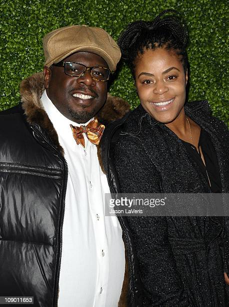 Cedric the Entertainer and wife Lorna Wells attend the 7th annual Peapod benefit concert at The Henry Fonda Theater on February 10 2011 in Hollywood...
