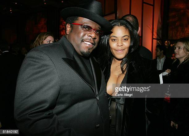 OUT*** Cedric the Entertainer and wife Lorna Wells attend the after party for Warner Bros premiere of the film Ocean's Twelve at The Grand Ballroom...
