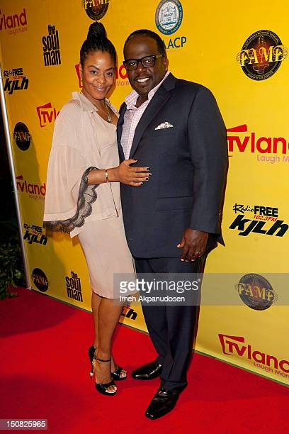 Cedric the Entertainer and wife Lorna Wells attend the TV Land screening of 2 episodes of 'The Soul Man' at First AME Church on August 26 2012 in Los...