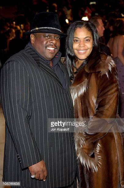 Cedric the Entertainer and wife Lorna Wells during 2004 Vanity Fair Oscar Party at Mortons in Beverly Hills California United States