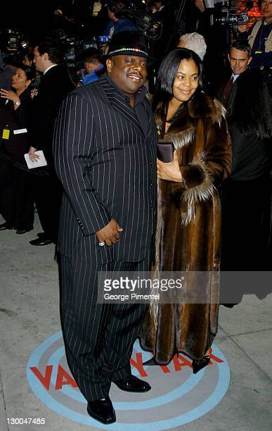 Cedric the Entertainer and wife Lorna Wells during 2004 Vanity Fair Oscar Party Arrivals at Mortons in Beverly Hills California United States
