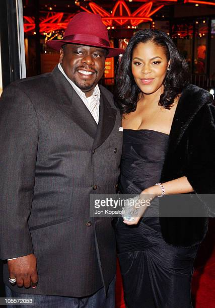 Cedric the Entertainer and wife Lorna Wells during Be Cool Los Angeles Premiere Arrivals at Grauman's Chinese Theater in Hollywood California United...