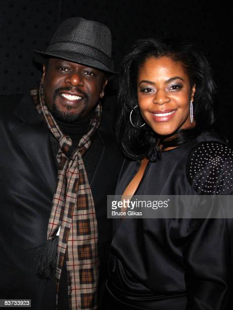Cedric the Entertainer and wife Lorna Wells pose at the opening night after party for David Mamet's Revival of American Buffalo on Broadway at 230...
