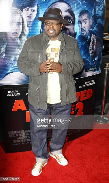 Cedric the Entertainer arrives at the Los Angeles premiere of 'A Haunted House 2' held at Regal Cinemas LA Live on April 16 2014 in Los Angeles...