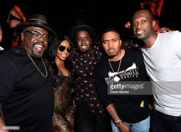Cedric the Entertainer Ashanti Sean 'Diddy' Combs Nas and Pras Michel attend the Double or Nothing welcome to fight weekend kickoff powered by CIROC...