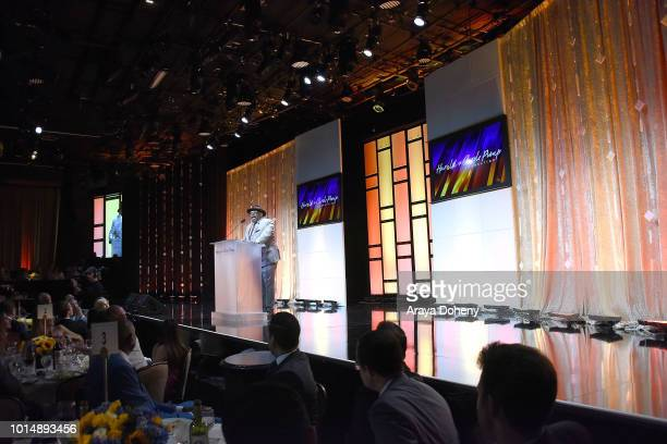 Cedric the Entertainer attends the 18th Annual Harold and Carole Pump Foundation Gala at The Beverly Hilton Hotel on August 10 2018 in Beverly Hills...