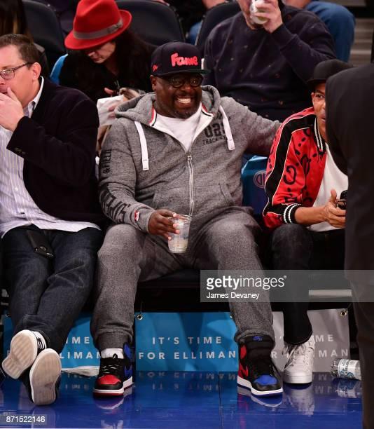 Cedric The Entertainer attends the Charlotte Hornets Vs New York Knicks game at Madison Square Garden on November 7 2017 in New York City