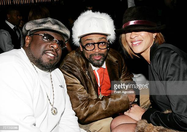 Cedric the Entertainer director Spike Lee and wife Tonya attend the Dreamgirls premiere after party at Gotham Hall December 4 2006 in New York City