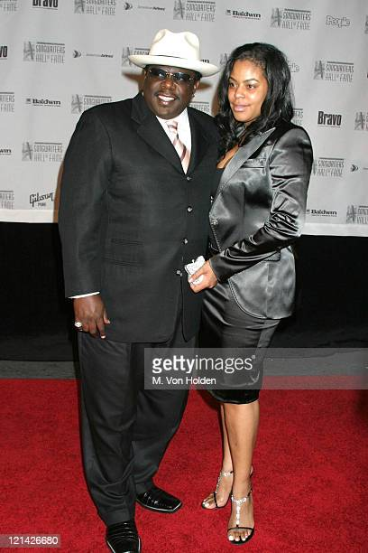 Cedric the Entertainer Lorna Wells during 35th Annual Songwriters Hall of Fame Awards at Marriott Marquis in New York New York United States
