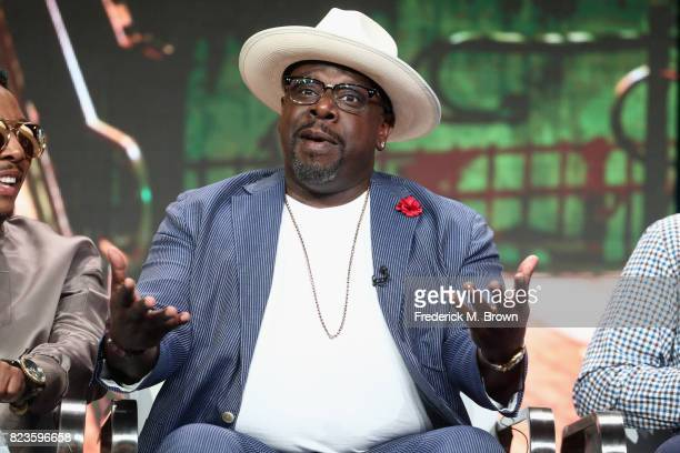 Cedric the Entertainer of 'TBS/The Last OG' speask onstage during the Turner Networks portion of the 2017 Summer Television Critics Association Press...
