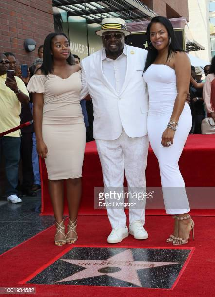 Cedric the Entertainer poses with his daughter Lucky Rose Kyles and wife Lorna Wells at Cedric the Entertainer being honored with a Star on the...