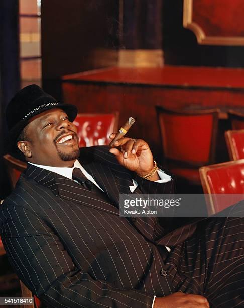 Cedric the Entertainer Smoking Cigar