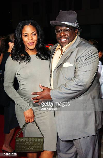 Cedric The Entertainer wife Lorna during 'Intolerable Cruelty' Los Angeles Premiere at The Academy of Motion Picture Arts and Sciences in Beverly...