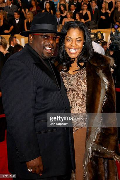 Cedric the Entertainer with his wife Lorna arrive at the 29th Annual People's Choice Awards at the Pasadena Civic Center January 12 2003 in Pasadena...