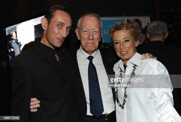 Cedric von Sydow, Max von Sydow and Catherine Brelet attend TheWrap's 3rd Annual Pre-Oscar Party at Culina Restaurant at the Four Seasons Los Angeles...