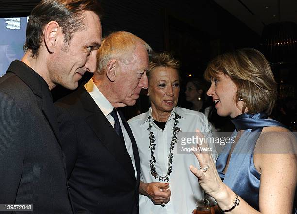 Cedric von Sydow, Max von Sydow, Catherine Brelet and Sharon Waxman attend TheWrap's 3rd Annual Pre-Oscar Party at Culina Restaurant at the Four...