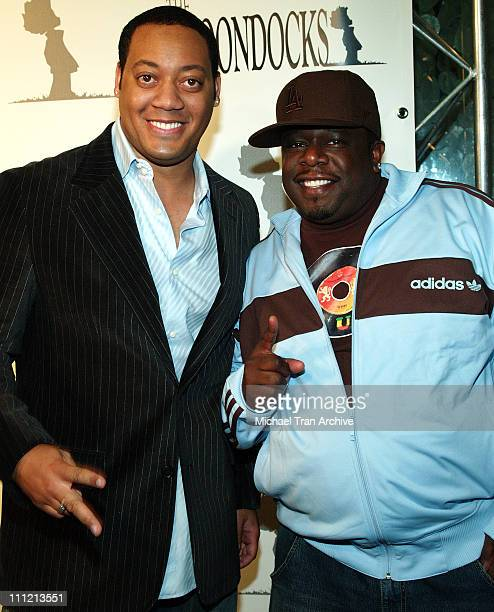 Cedric Yarbrough and Cedric the Entertainer during The Boondocks Los Angeles Series Launch Party at Mood in Hollywood California United States