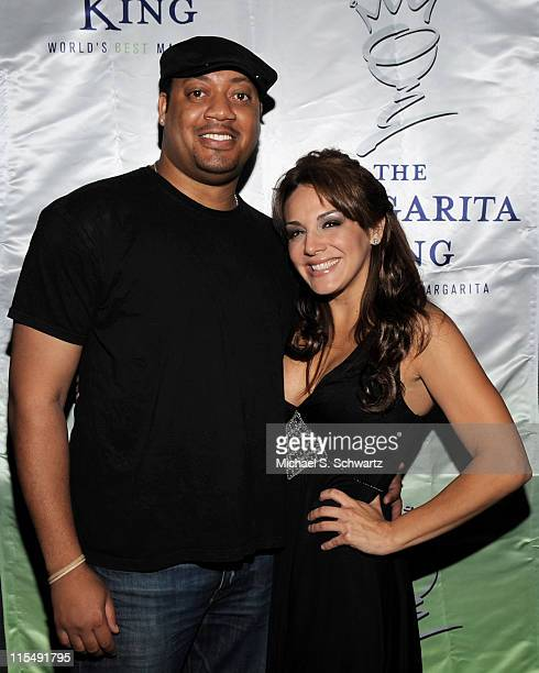 Cedric Yarbrough and comedian JillMichele Melean attend JillMichele Melean's Birthday Bash at Holly's on June 25 2008 in Hollywood California