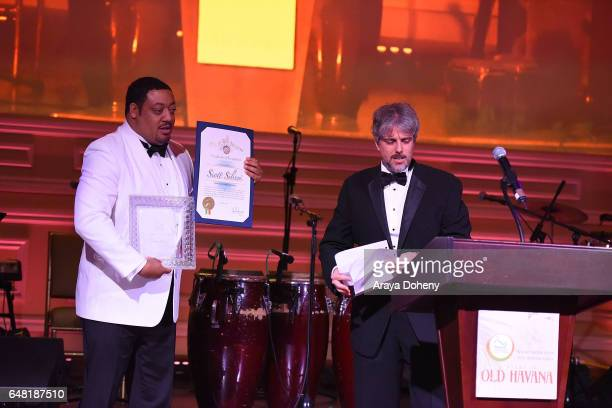 Cedric Yarbrough and Scott Silveri attend the Shane's Inspiration A Night In Old Havana Gala on March 4 2017 in Hollywood California