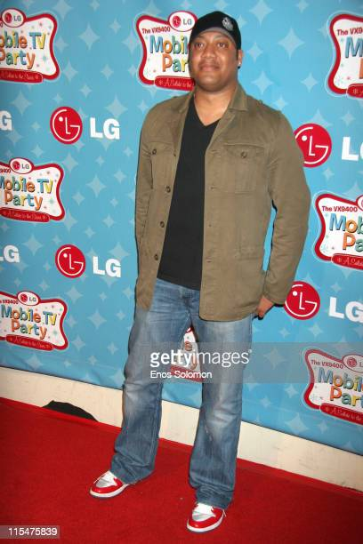 Cedric Yarbrough during LG Mobile TV Party at Stage 14 Paramount Studios in Hollywood CA United States